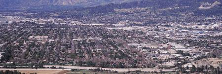 Aerial view of a cityscape Burbank Los Angeles Co