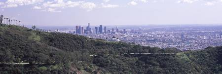 Aerial view of a cityscape Griffith Park Observat