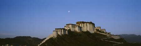 Low angle view of Potala Palace at dawn