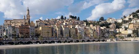 Buildings at the waterfront Menton French Riviera