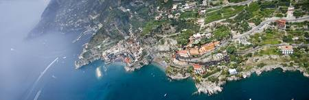 Aerial view of a town Atrani Amalfi Coast Salerno