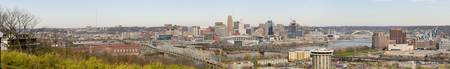 High angle view of a city Cincinnati Hamilton Cou