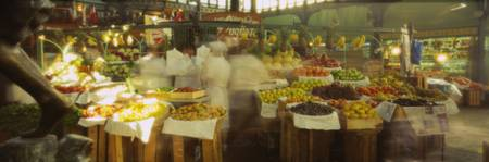 Fruits and vegetables stall in a market
