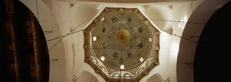 Low angle view of ceiling in a mosque
