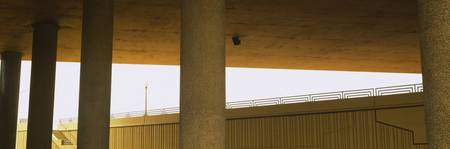 Columns supporting an overpass