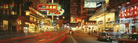 Night Percival Street Causeway Bay Hong Kong
