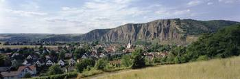 Village and Rotenfels Nahe rock formation