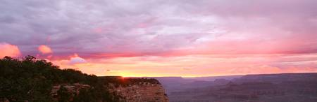 Sunset at Mather Point S Rim of Grand Canyon Nati