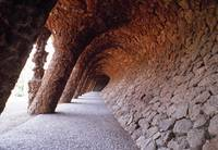 Tunnel Gaudi Barcelona Spain