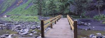 Footbridge across a stream