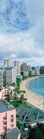 Waikiki Beach and Hotels Oahu HI