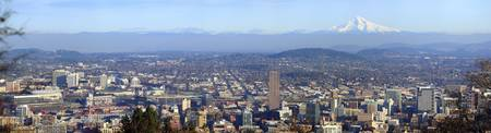 Buildings in a city viewed from Pittock Mansion P