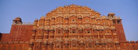Low angle view of a palace Hawa Mahal Jaipur Raja