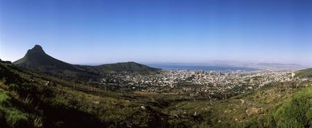 High angle view of a city Cape Town Western Cape