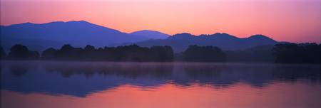 Sunset Lake Fukushima Japan