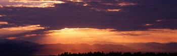 Sunset over Rocky Mts from Daniels Park  CO