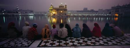 Group of people at a temple Golden Temple Amritsa