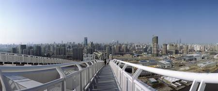 High angle view of a cityscape from Lupu Bridge P