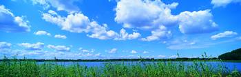 Clouds Lake Schleswig-Holstein Germany
