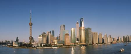 City at the waterfront Huangpu River Pudong Shang