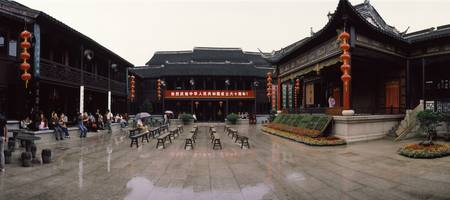 Outdoor setting for Chinese opera Zhouzhuang Jian