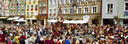 Street performers during a procession Landshut We