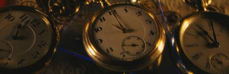 Close-up of pocket watches