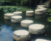 Stepping Stones Heian Jingu Kyoto Japan