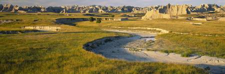 Sunset Palmer Creek Unit Badlands National Park S