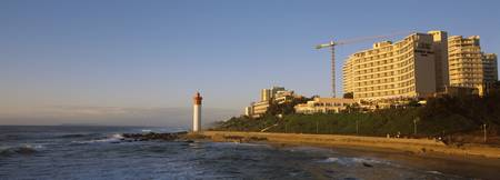 Hotels and apartments at the waterfront Umhlanga