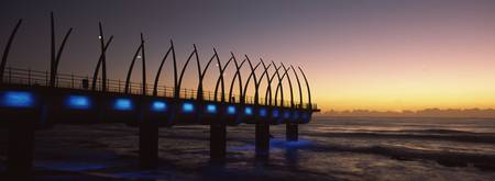 New pier constructed on beach front Umhlanga Durb
