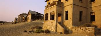 Buildings in a ghost town Kolmanskop Namib Desert