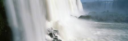 Water falling on rocks