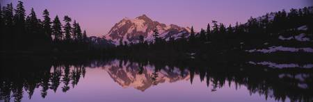 Mount Shuksan Picture Lake WA