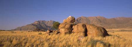 Rock formations in a desert Brandberg Mountains D