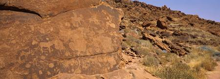 Ancient rock carvings Twyfelfontein Kunene Region
