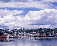 Waterfront and Town Lunenburg Nova Scotia Canada