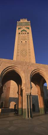 Low angle view of the tower of a mosque