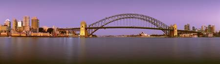 Dusk Harbor Tunnel Bridge Sydney Australia