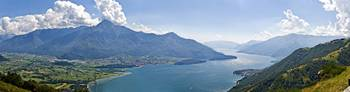 Mountain range at the lakeside Lake Como Como Lom