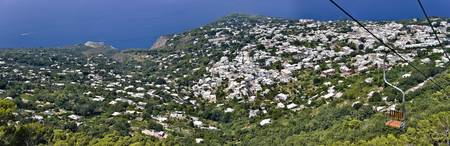 Town viewed from a chair lift Anacapri Capri Napl