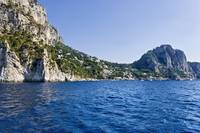 Rock formations in the sea Capri Naples Campania