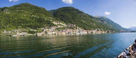 Town at the waterfront Sala Comacina Lake Como Co