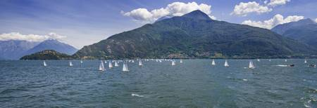 Sailboats in the lake Lake Como Como Lombardy Ita
