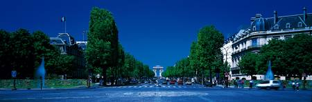 Champs Elysees Arc de Triomphe Paris France