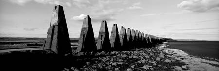 Coastal war defences