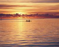 Fishing Sunset Moorea South Pacific