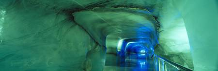 Tunnel in the Ice Palace Jungfraujoch Bernese Alp