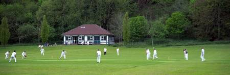 Cricket match in progress Patcham Brighton East S