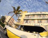 Car Art Deco Building Miami Beach FL